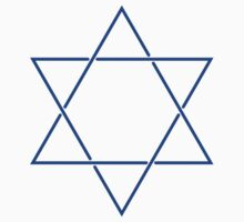 Star of David - blue and fine by JoAnnFineArt