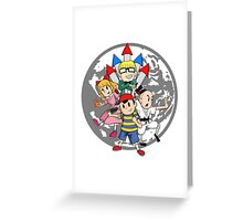 Earthbound w/ Background Greeting Card