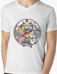 Earthbound w/ Background Mens V-Neck T-Shirt
