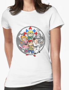 Earthbound w/ Background Womens Fitted T-Shirt