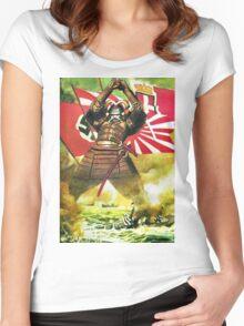 Japanese Propaganda Poster : WW2 World War 2 : WWII  Women's Fitted Scoop T-Shirt