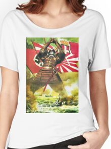 Japanese Propaganda Poster : WW2 World War 2 : WWII  Women's Relaxed Fit T-Shirt
