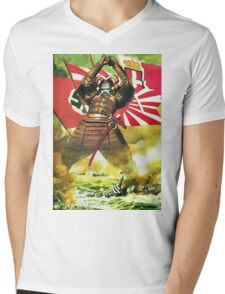 Japanese Propaganda Poster : WW2 World War 2 : WWII  Mens V-Neck T-Shirt