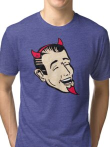 Grinning Red Devil Tri-blend T-Shirt