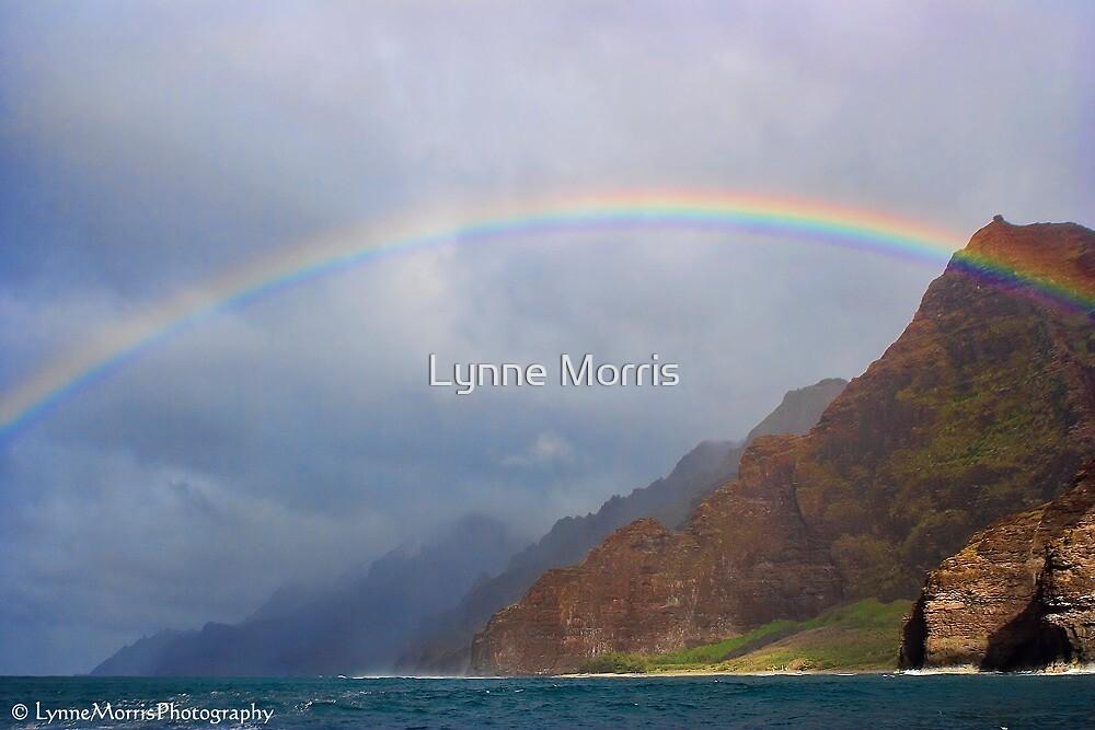 Rainbow Over Napali Coast by Lynne Morris