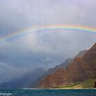 Rainbow Over Napali Coast by Lynne Morris