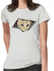 Ceiling Cat Watches You, LOLCat Favorite Womens Fitted T-Shirt