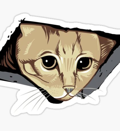 Ceiling Cat Watches You, LOLCat Favorite Sticker