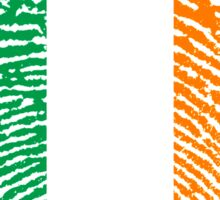 Irish flag - fingerprint Sticker