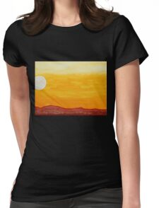 Moonshine original painting Womens Fitted T-Shirt