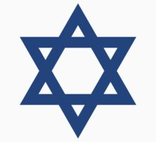Star of David, blue and thick Kids Clothes