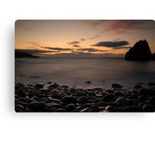 St Abbs Head Stone Beach Canvas Print