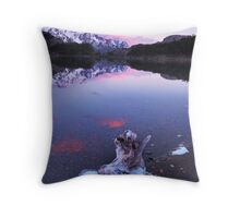 Blue Ice and Pink Clouds, Argentina Throw Pillow