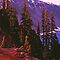 CRATER LAKE,DUSK by Chuck Wickham
