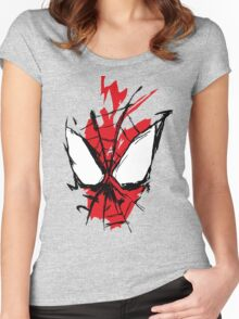 Spiderman Splatter Women's Fitted Scoop T-Shirt