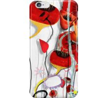 Rustic Poppy meets saturated brights  iPhone Case/Skin