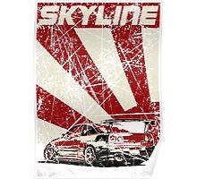 Skyline R34 - Japan pop-art Poster