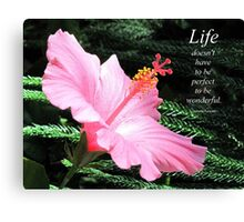 Pink Hybiscus Canvas Print
