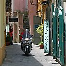 Salerno Alley and Motorcycle by longaray2