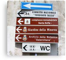 Salerno Tourist Information  Canvas Print