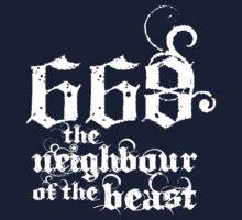 668 the neighbour of the beast Kids Tee