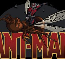 "Ant-Man ""Flying-Ant Rodeo"" by DrawnUnderRated"