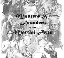 Masters and Founders of Martial Arts calendar by Alleycatsgarden