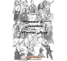 Masters and Founders of Martial Arts calendar Photographic Print