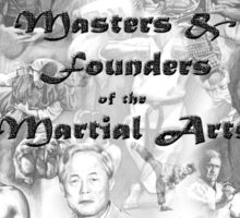 Masters and Founders of Martial Arts calendar Sticker