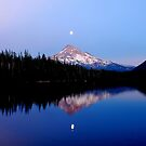 Moonrise over Mt. Hood, Oregon, USA by Jennifer Hulbert-Hortman