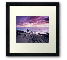 Crimson Sunset - Hopeman, Moray Framed Print