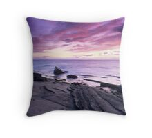 Crimson Sunset - Hopeman, Moray Throw Pillow