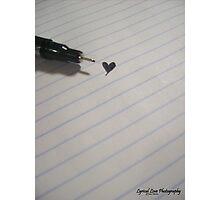 Sharpie Heart Photographic Print