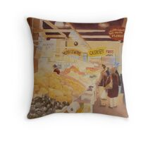 Granville island, watercolor on board Throw Pillow