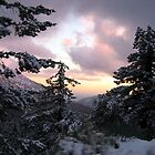 Mount Baldy Sunset and Snow by Kelley Shannon