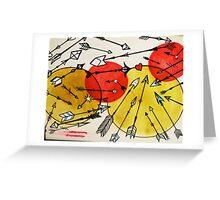 many arrows tattoo flash Greeting Card