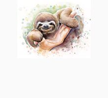 Baby Sloth Watercolor Painting, Cute Baby Animals Print Unisex T-Shirt