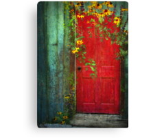 Behind The Red Door Canvas Print