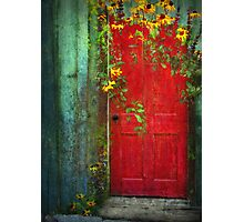 Behind The Red Door Photographic Print