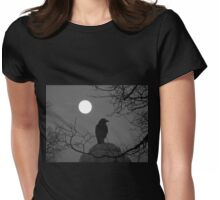 Moonlit Crow Womens Fitted T-Shirt