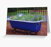 tub surprise Greeting Card