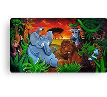 Jungle Mural Canvas Print