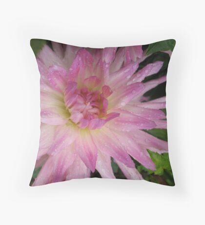 Playful Dahlia Throw Pillow