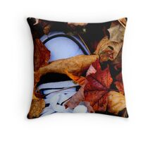 ...and he was buried under a blanket of fall... Throw Pillow