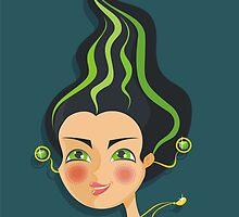 cartoon horoscope girls calendar by Anastasiia Kucherenko