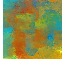 Blue, Copper, and Gold Abstract Photographic Print