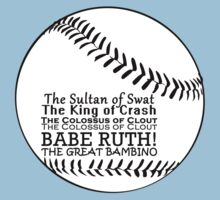 Babe Ruth and his nicknames One Piece - Short Sleeve