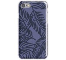 Dress Blue Palm Brigata Pattern iPhone Case/Skin