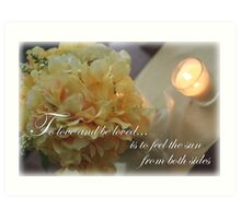 Yellow Flowers to Love Quote Art Print