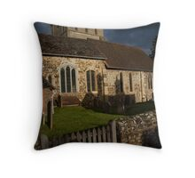 surrey old church Throw Pillow